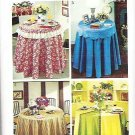 1973 Simplicity Pattern 5771 Round Tablecloth and Fitted Top Cloth