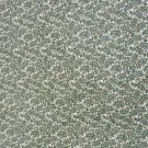 3 Yds Cotton Fabric - Green Paisley on White Material