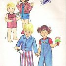 1974 Simplicity 6297 Toddler Sz 3 Overalls in 2 Lengths and Jacket Pattern