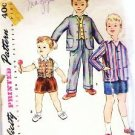 Vintage Simplicity Pattern 019 Toddler Boys Sz 3 Jacket Vest and Pants
