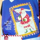 New: Easy No-Sew Fabric Applique Ho Ho Ho Santa designed by Back Street