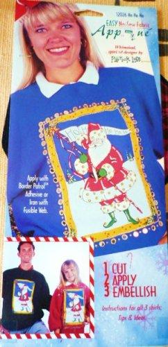 New: Easy No-Sew Fabric Applique Ho Ho Ho Santa designed by Back Street