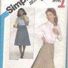 Simplicity Pattern 5232 Classic Back Wrap Skirt Misses Sz Medium 14-16