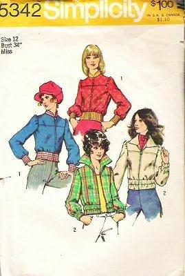 Simplicity Pattern 5342 Size 12 - 1972 Short Jacket