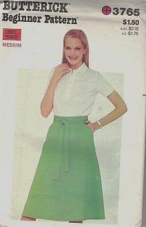 Butterick Pattern 3765 Misses Size 12 - 14 Medium Skirt