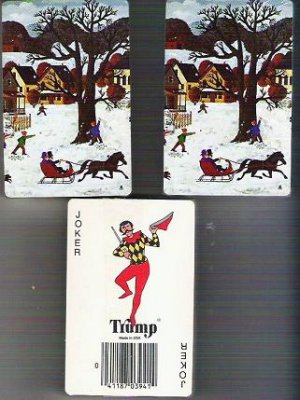 Sealed Playing Cards by Trump Vintage Winter Scene w Jokers