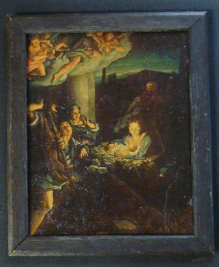 Holy Night The First Christmas Morn Correggio Framed