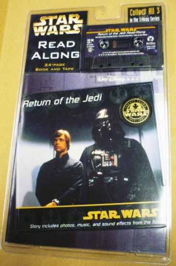 New 1997 Return of the Jedi Read-Along Incl Book and Cassette Tape Disney 0763401935