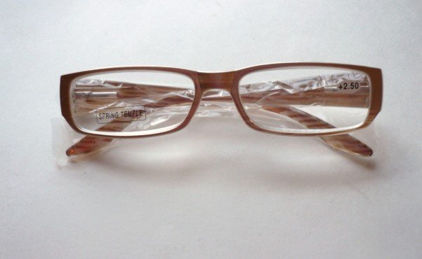 +2.50 New Pearly Taupe - Linen Reading Glasses Eyeglasses With Pouch