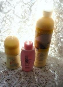 Avon Naturals Body Lotion and Skin So Soft Deodorant and Shower Gel