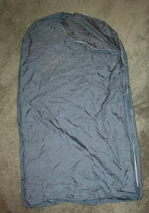 Arrow Zippered Garment Clothing Travel Bag - Dark Blue
