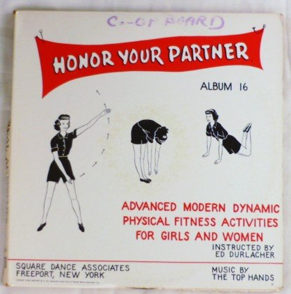 Honor Your Partner Album 16 by Ed Durlacher Four 78 Record Albums Phys Fitness