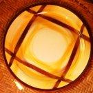 Vernonware Vernon Kilns Organdie Plaid Luncheon Plate 9 5/8 Inches