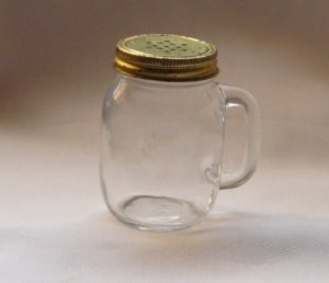 Glass Anchor Hocking Sugar Spice Shaker Jar w/ Handle