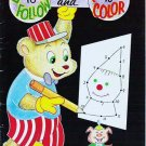 Vintage Unused Dots to Follow and Pictures to Color Coloring Book by Playmore