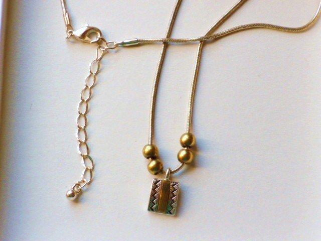 Cache Designer Silvertone and Brasstone Adjustable Necklace - New in Box