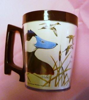 1980 National Wildlife Federation Plastic Mug Ruddy Duck