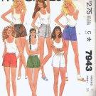 McCalls Pattern 7943 - Uncut - Ladies Size 8 - Six Different Shorts
