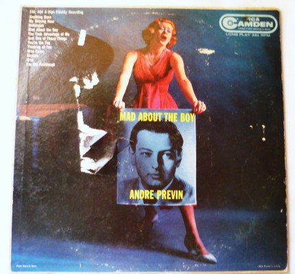 Mad About The Boy lp by Andre Previn cal 406 - Jazz