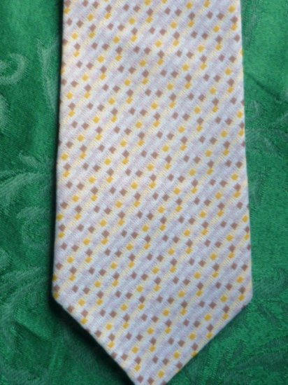 Vintage Necktie Neck Tie Yellow and Tan 1960s?
