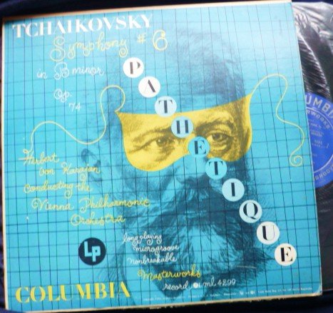 Rare Album: Tchaikovsky Symphony 6 Pathetique w/ H Von Karajan 1950 lp ml 4299