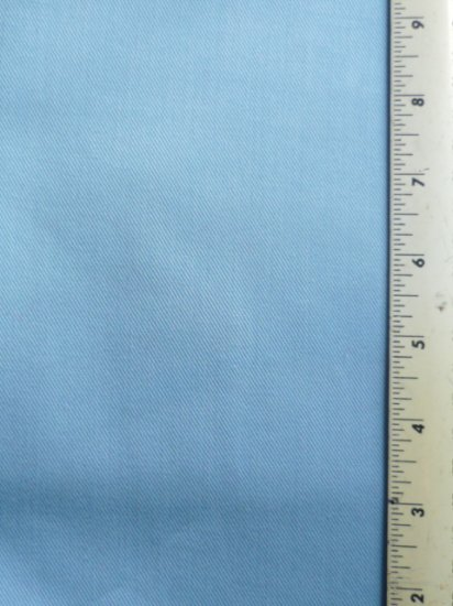 Chambray Light Blue Twill Fabric 26 inch x 60 inch