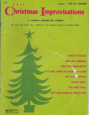 Easy Christmas Improvisations Vol 1 For all Organs Virginia Thomas