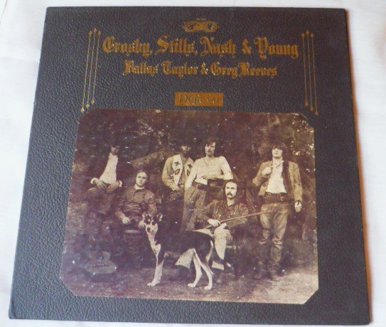Deja Vu by Crosby Stills Nash and Young lp Gatefold sd 7200 Pasted on Front Label