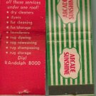 Sunshine Arcade Cleaning Co Matchbook Cover