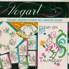 Vintage Vogart Transfer Patterns No 223 - Rooster Patterns for Kitchen