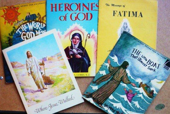 Five Religious Books for Children - Stories of Jesus Fatima God etc