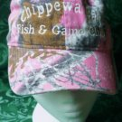 NWT Chippewa Bay Fish n Game Club Ladies Cap in Pink Camouflage