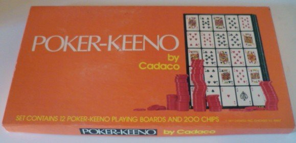Poker Keeno Board Game from Cadaco - Complete and Vntg 1977