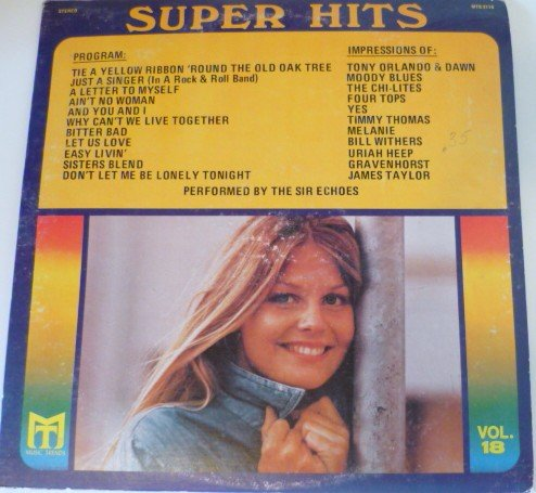 Super Hits lp Vol 18 - Music Trends - Sir Echoes mts-2118