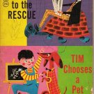 The Zoo to the Rescue - Tim Chooses a Pet 1964 Paperback - Rare