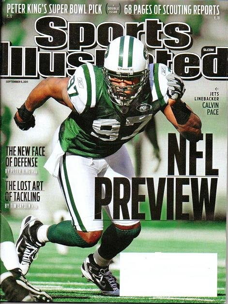 Sports Illustrated - Unread - Sept 5 2011 - Jets Calvin Pace on Cover NFL Preview