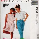 McCalls 1988 Uncut Pattern P916 - 3596 Girls Large Shorts Pants Top