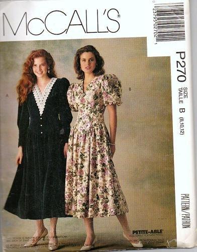 Uncut McCalls P270 Dress Pattern Misses Sz 8-10-12