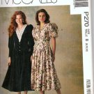 Uncut McCalls P270 Dress Pattern Misses Sz 8-10-12