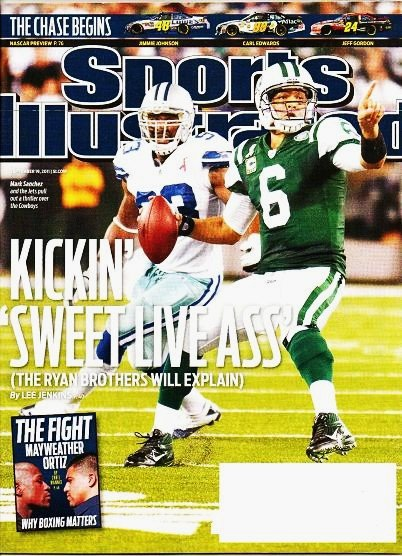 Sports Illustrated - Unread - Sept 19 2011 - Mark Sanchez New York Jets Over Dallas Cowboys