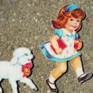 Mary Had a Little Lamb and Ring Around Rosie Story Thick Wall Art 1960s