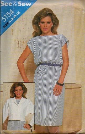 Butterick Pattern 5154 - Uncut -  Dress and Jacket Sizes 8-10-12
