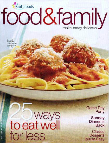 Kraft Food and Family Magazine Fall 2009