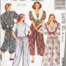 McCalls UNCUT Pattern 5475 Dress Jumpsuit 1991 Misses Sizes 8 10 12