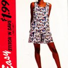 McCalls Uncut Pattern 7044 Misses Tank Top and Shorts Sizes 8-10-12-14