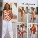 Simplicity Uncut Pattern 7181 Sz 10-18 Misses Pants Shorts Vest-Top Jacket