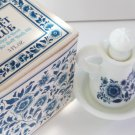Avon Delft Blue Bath Oil Pitcher and Bowl w/box Vintage New Skin so Soft