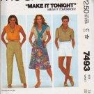 Uncut McCalls Pattern 7493 Misses Junior Sz 14 Skirt Pants or Shorts