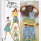Simplicity Pattern 8605 Shorts, Skirt and Top Ladies Size SM 10-12