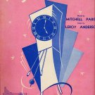 The Syncopated Clock 1950 Sheet Music Mitchell Parish